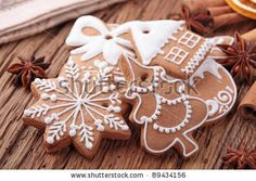 stock photo : Gingerbread cookies in gift box