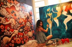 Paintings by Dana Stefania Apostol : from one end to another beginning