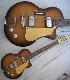 egmond guitar - notice the three buttons, probably for pickup selection