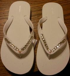Bride Flip Flops for the reception