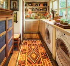 Laundry Photos Small Laundry Room Design, Pictures, Remodel, Decor and Ideas - page 19 Pantry Laundry Room, Rustic Laundry Rooms, Laundry Room Organization, Laundry Storage, Basement Laundry, Bathroom Laundry, Laundry Area, Laundry Basket, Kitchen Storage