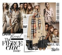 """""""Shein.com"""" by polyandrea ❤ liked on Polyvore featuring Burberry, Borghese and Valentino"""