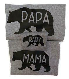 Matching family shirts! Mama Papa Baby Bear Shirts  Bear Family Shirts by ShopAmandasAttic