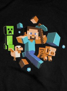 Minecraft Run Away! T-Shirt - Minecraft World
