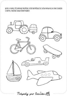 Drawing For Kids, Art For Kids, Transportation Theme Preschool, Teach English To Kids, Kindergarten Coloring Pages, Autism Education, Shrink Art, Disney Coloring Pages, Character Template