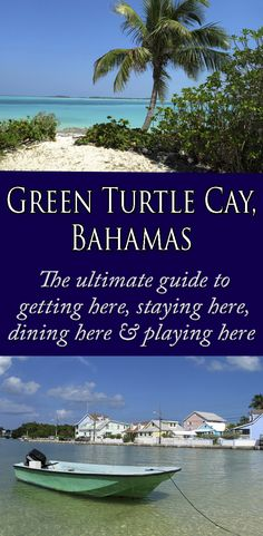 Tranquil, quaint and unspoiled, Green Turtle Cay is an ideal travel destination for singles, couples or families. Bahamas Vacation, Vacation Spots, Abaco Bahamas, Bahamas Beach, Small Beach Weddings, Beach Honeymoon Destinations, Sailing Trips, Green Turtle, Paradise Island