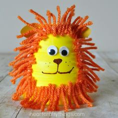 This foam cup lion craft for kids is a cute summer kids craft and makes a great family activity for after visiting you local zoo.