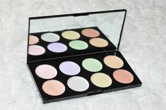 Review and swatches of the Makeup Revolution Ultra Base Corrector Palette.