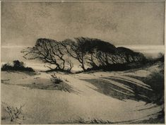 "nervoservo: "" Mildred Bryant Brooks Moods, 1935. aquatint """