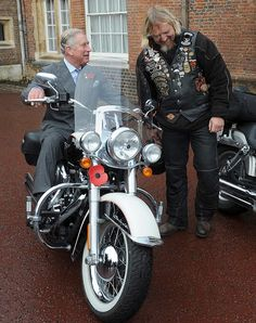 Prince Charles on a Harley