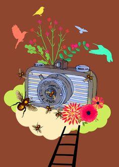 Vintage Camera Kondor Kandid Art Print