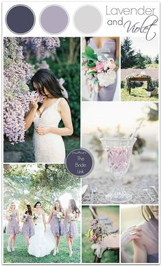Lavender Wedding Inspiration - Lavender and Violet Wedding Inspiration I hear the birds chirping outside my office window here in - Lavender Wedding Colors, Rustic Wedding Colors, Lilac Wedding, Dream Wedding, Wedding Day, Lavender Weddings, Wedding Attire, Lavender Color Scheme, Light Purple Wedding