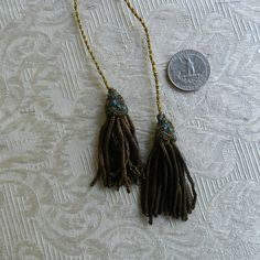 Antique metallic , gold , tassels , lot of two pieces