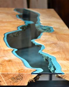 River table by Greg Klassen (via The Dirt)