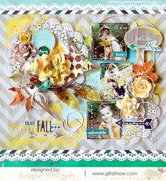 {Enjoy Fall} layout * Glitz Design*