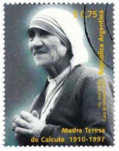 Mother Teresa (Argentina)  http://jainismus.hubpages.com/hub/Mother-Teresa-Stamps