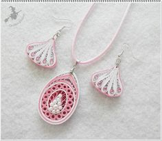 Jewelry set - Quilled by Quilling Boyszi