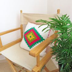 Geometric Pillow Tunisian Crochet Pattern