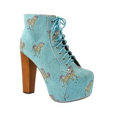 Jeffrey Campbell Blue Suede Unicorn Lita