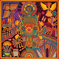 Shop Oaxaca Mexico Mexican Mayan Tribal Art Boho Travel Poster created by ArteMexicano. Peruvian Art, Art Tumblr, Frida Art, Yarn Painting, Mexico Art, Psy Art, Bd Comics, Indigenous Art, Mexican Folk Art