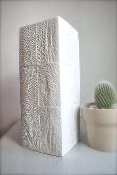 #Tribal #geometric porcelain op #art vase by the man who created the #VW symbol, Martin Freyer