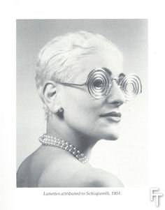 Schiaparelli glasses inspired or attributed to Man Ray, collection BillyBoy *. Make-up by Lala. Photo by BillyBoy* & Patrick Sarfati.
