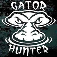 Gator Hunter - alligator hunting decals
