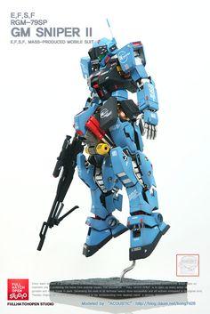MG GM Sniper [Open Hatch] - Customized Build Modeled by Accoustic Gunpla Custom, Custom Gundam, Space Warfare, Bodybuilding Videos, Astray Red Frame, Nerf Mod, Building Photography, Gundam 00, Sci Fi Armor