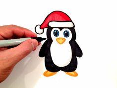 disegni natalizi, ecco come realizzare e colorare un simpatico pinguino