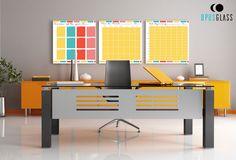 Odpowiednio zaprojektowane biuro ma ogromny wpływ na wydajność pracowników. Dzięki panelom ze szkła laminowanego z grafiką urządzisz wyjątkową przestrzeń do pracy, a nasze tablice suchościeralne z pewnością Ci w tym pomogą.   ______________ www.opusglass.pl #opusglass #szkłolaminowane #szkłolaminowanezgrafiką