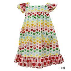 Oobi Baby Holly Heart Print Dress