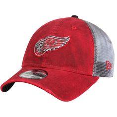 reputable site 406a6 506f6 Detroit Red Wings New Era Team Rustic Trucker 9TWENTY Adjustable Snapback  Hat - Red White