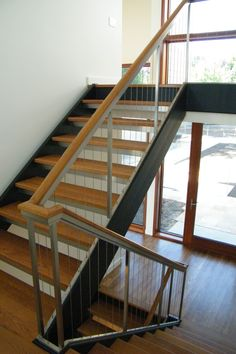 Custom stairwell for residence.