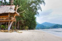 beach bungalows on Koh Chang island, Thailand. i want to be there NOW.