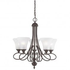 Thomas Lighting.  The Elipse Collection Painted Bronze (Group 4).  Dining Room.