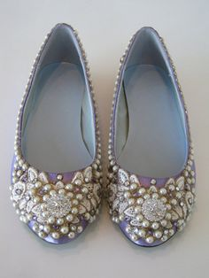 French Lavender Bridal Ballet Flats Wedding Shoes - Any Size - Pick your own shoe color and crystal color---kinda funky and flats aren't my friends, but a definite possibility. Bridal Party Shoes, Wedding Shoes, Ivory Wedding, Wedding Bells, Wedding Stuff, Wedding Ideas, Wedding Guest Style, Trendy Wedding, Cartier Wedding Rings