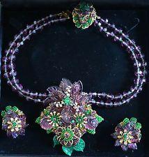 Výjimečné Vintage Stanley Hagler NYC náhrdelník a náušnice Set