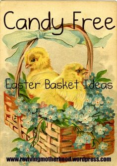 Candy free Easter Basket Ideas!