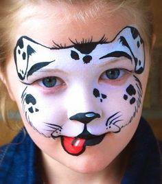 Modelos de caritas pintadas para niños -Halloween o fiestas