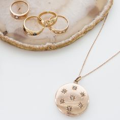 DIAMOND THREE STONE GYPSY SET RING - SHOP