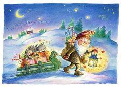 Christmas gnome. (Artist: Asa Gustafsson.)