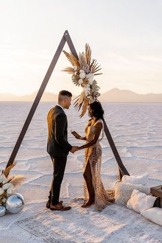 Cassandra and her husband recently celebrated their 5 year wedding anniversary with the most magical and intimate experience at the Salt Flats in Utah. And we are HERE FOR every breathtaking detail!! See our blog for all the beauty, as captured by Rebecca E Dahl… 5 Year Anniversary, Wedding Anniversary, Wedding Ceremony, Wedding Day, 5 Years, Big Day, Utah, Wedding Decorations, Salt