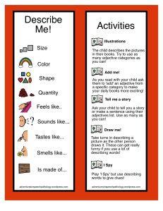 Adjectives Boomark & Actvities