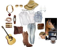 """""""And I Can Be You're Cowgirl"""" by gracehands on Polyvore"""