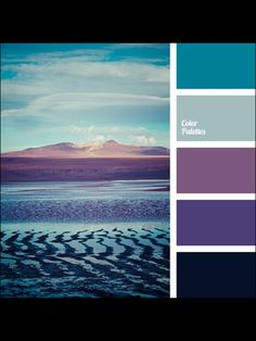 Teal and purple - color palette Colour Pallette, Color Palate, Colour Schemes, Color Patterns, Paint Schemes, Paint Color Combos, Color Schemes Colour Palettes, Purple Palette, Paint Colours