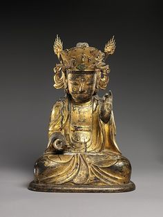 Seated Bodhisattva (Left Attendant of a Triad) Joseon dynasty Mid-17th century From the Metropolitan Museum of Art.