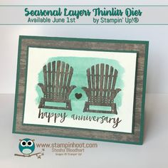 Happy Anniversary Card, Seasonal Layers Thinlits Dies, Stampin\' Up! Annual Catalog Sneak Peeks, Paper Craft Inspiration, Cards and Scrapbook Pages