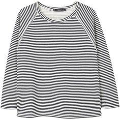 Printed Cotton Sweatshirt ($23) ❤ liked on Polyvore featuring tops, hoodies, sweatshirts, mixed print top, long sleeve tops, mango tops, mango sweatshirt and cotton sweatshirts