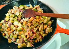 Chicken, Apple, Sweet Potato, and Brussels Sprouts Skillet   The Law Student's Wife