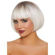 Haircuts For Thin Fine Hair, Short Bob Haircuts, Short Hairstyles For Women, Short Hair Cuts, Short Hair Styles, Pixie Styles, Mid Length Ombre, Grey White Hair, Purple Wig